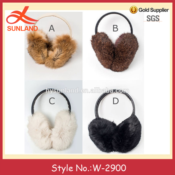W-2900 women men winter warm fur ear warmers custom faux fur earmuffs