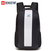 Factory direct price fashionable lightweight nylon backpack foldable gym sport