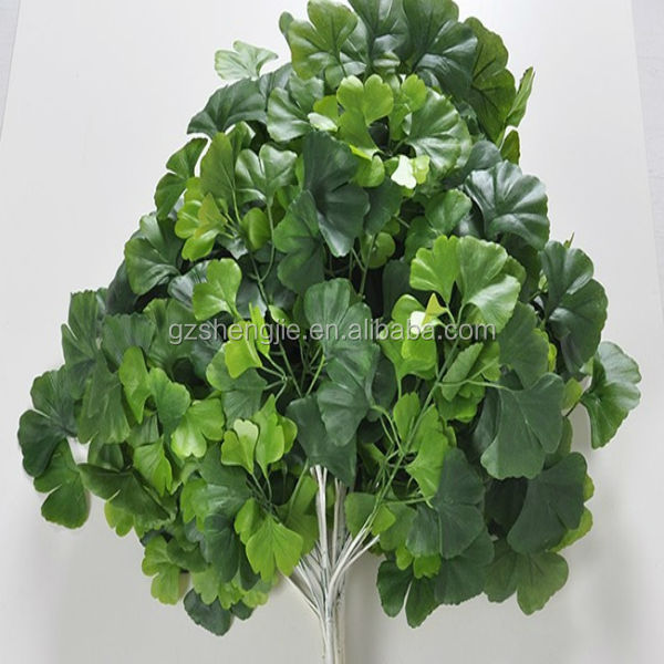 Artificial ginkgo tree leaves