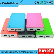 2015 great value smart universal power bank 10400mah with LED lighting