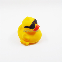 Flashing Led Toys Plastic Yellow Cool Duck with Glass Magic Lighting Small Toy Duck