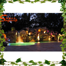 Romantic artistic simulation artificial rockery waterfall Landscape Art decorative artificial rockry waterfall