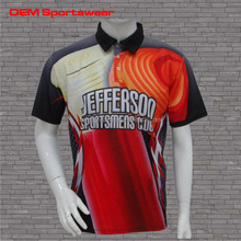 New design t shirts sublimated 100% polyester polo shirts