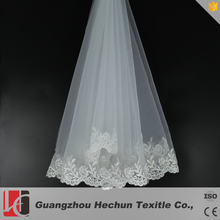 Hot sale popular white flower birdcage bridal face veils