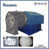 Horizontal 2-stage Basket Pusher Centrifuge Salt Refining Machine
