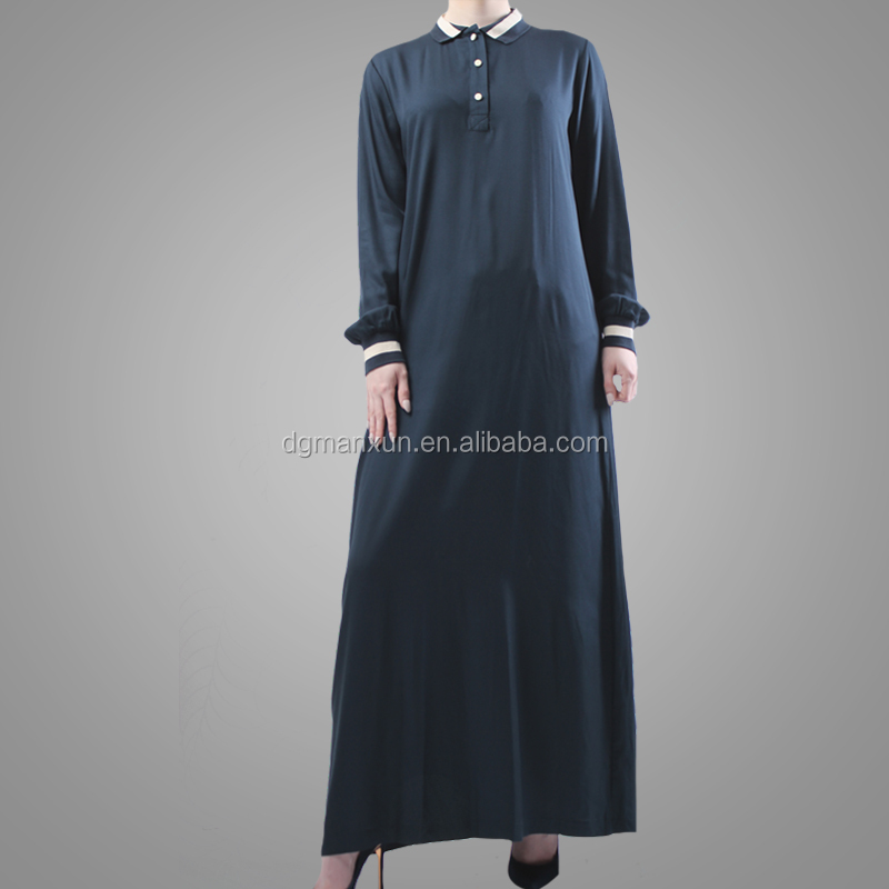 Hotsale Muslim Women Islamic Dress Fashion Sport Style Long Sleeve Cotton Abaya Breathable Turkey Casual Clothing