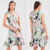 Summer Women Sleeveless Floral Print Dresses