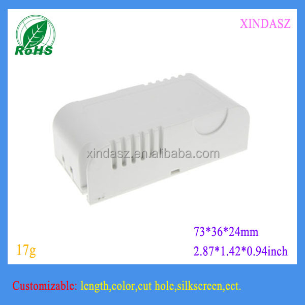 Plastic enclosure for led driver power supply 73*36*24mm 2.87*1.42*0.94inch abs housing plastic
