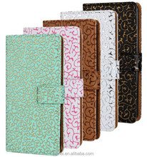 Fashion Artistic Palace Flower Leather Wallet Case Cover For Sony Xperia Z2 L50W