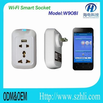 smarthome internet socket with usb plug stand by IOS&Android for all Electrical appliances