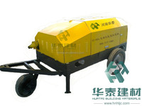 Foam cement mixing and pumping machine for roofing insulation