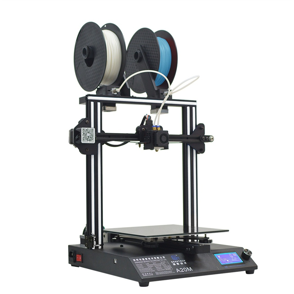 Geeetech Impresora 3D A20M mix-color of muti filament supporting diy newest 3d printer upgraded auto leveling