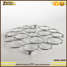 Hot sale kitchen chrome plated metal heat pan mat bowl pad pot pad for table