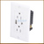 115*70mm Wall Plate USB Charger Type-A and Type-C with 2 TR 15A Receptacle