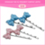 Wholesale low price resin material custom made bow names hair pin legs accessories