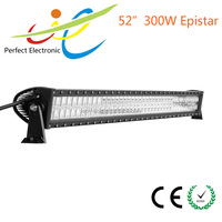 300W C ree dual row offroad LED light bars 52inch light bar for cars