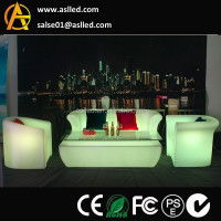 colors changing pe plastic led lighting up bar sofa event furniture, funky colorful furniture