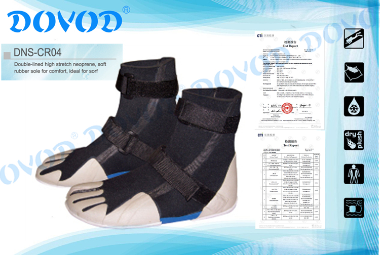 Chinese Manufacturer of Neoprene Surfing Diving Boots