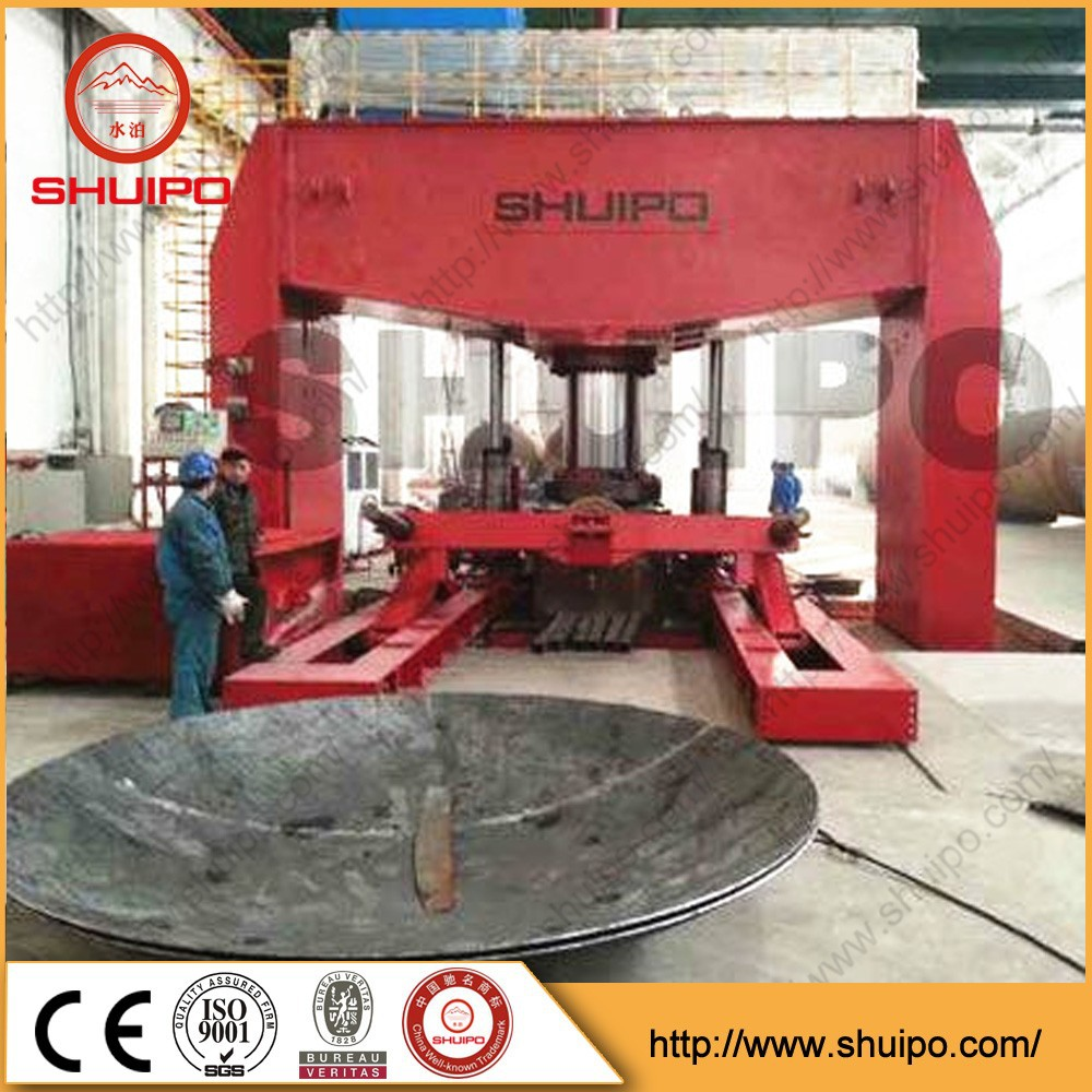 2015 SHUIPO New Product Dished Head Pressing Machine Vessel Dished End Making Machine