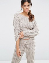 Super Soft Lounge Cable Sweater in Chenille Chunky cable knit