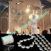 Christmas Decorating 10mm Iridescent Acrylic Crystal Beads Haning Curtain Design