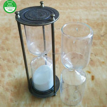decoration metal Hourglass Brass 30 minutes sand timer