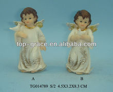 gold ceramic angel
