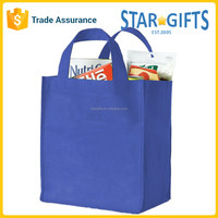 Custom OEM Promotional Woman Handbag Gift Shopping Tote Bag In Blue Color