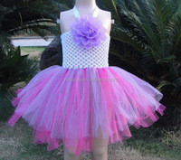 Fashion crochet tube top tutu top girls puffy tutu dress for girls