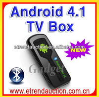 New Version Mini Pc Android 4.1 Dual Core A9 BT+External 3G Cable TV Set Top Box