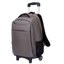 Hot selling business travel cheap trolley backpack lightweight laptop bag with detachable trolley