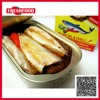 Fresh Food 7113#, 425g canned sardine in good vegetable oil ,Canned Fish manufacturer,Halal foods can