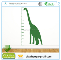 Dinosaur Height Chart Measure Kids Room Wall Art Stickers