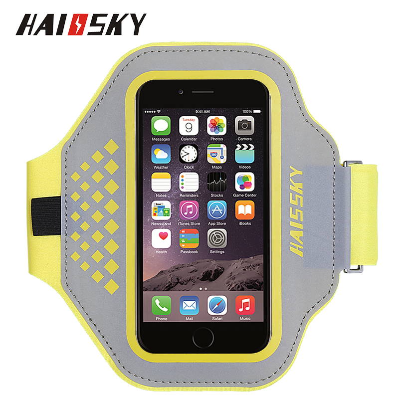 HAISSKY Ultra Light Sport Armband Belt sweatproof Wristband Running Arm Band Case mobile phone <strong>accessories</strong> factory in China