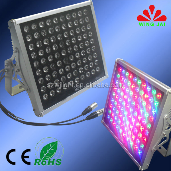 2017 china new innovative narrow spot high power 90W//200W/300W waterproof dmx rgb outdoor led flood light