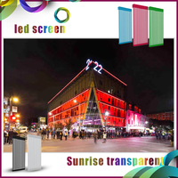 alibaba in russian led outdoor led screenP31.25/ P15.625mm transparent led media facade advertising transparent