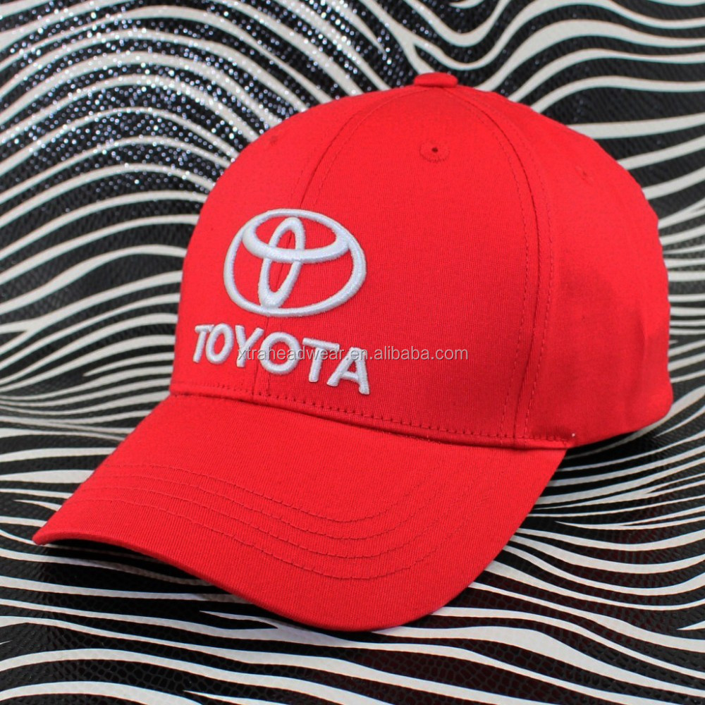 Toyota embroidery sports cap and hat 100% cotton high quality baseball cap headwear supplier in Guangdong province