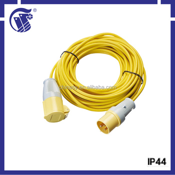 IP44 CEE male connector type high quality usb port extension cord