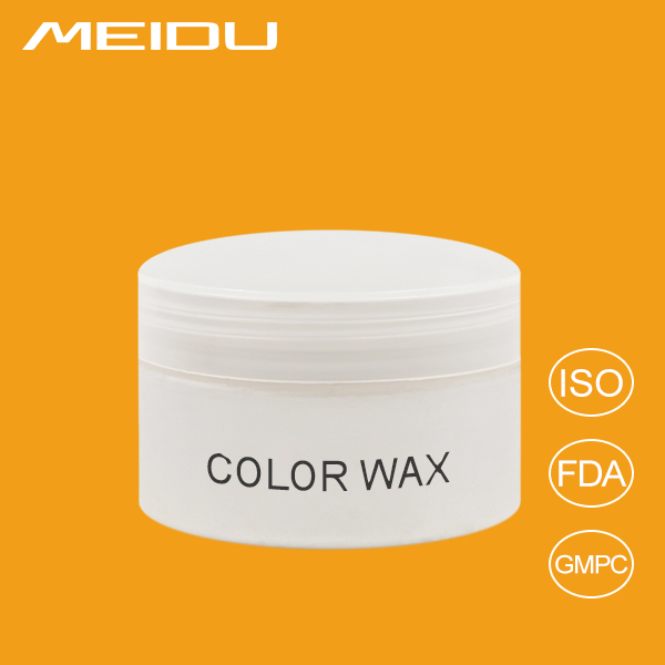 Washable temporary colorful clay hair color wax