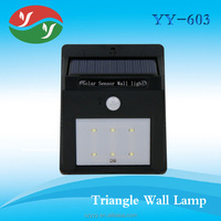 Manual Switch 1w Led Outdoor Decoration Light And Dark Sensor With 6 Led
