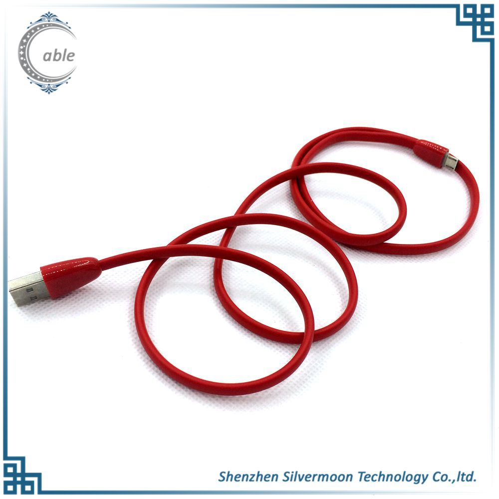 new style Customized quality flat micro usb 2.0 tpe data cable