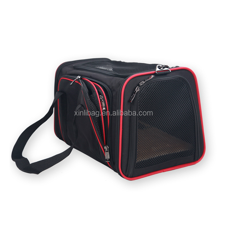 Shoulder Strap With 2 Openings pet carrier bag Portable and foldable pet travel carrier