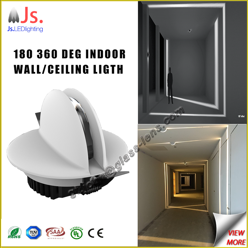 New design condominium illumination linear-light effect led wall light, led recessed ceiling light
