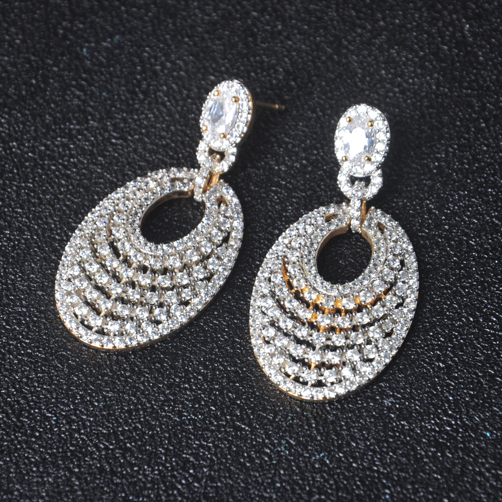 dubai gold jewelry earring