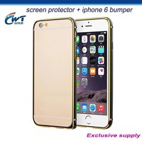 mobile phone accessories wholesale Slim Aluminum Metal Bumper Case for iphone 6