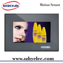 Hot sell Shop battery power wall mounted programmable media player with motion sensor