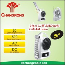 5 inch radion fan with 24pcs led