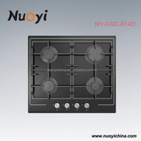 Tempered glass built-in 4 burners cooking gas stove/oven,Kitchen equipment/gas furnace,cooker units