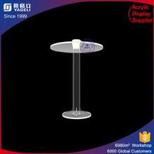 wholesale high quality custom made assembled small high clear cheap acrylic round dining table