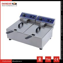 CHINZAO China Products Prices DZL-102B 10L+10L Tank Capacity Full Auto Commercial Deep Fryers